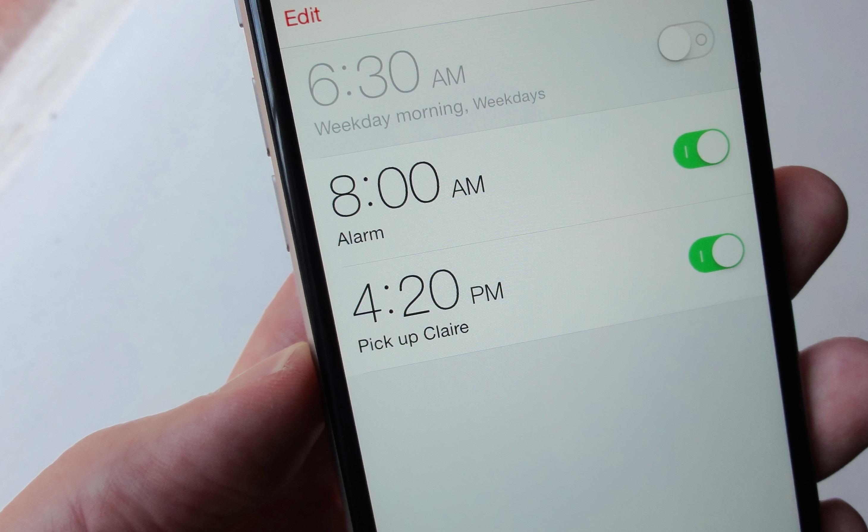 Alarmes iPhone